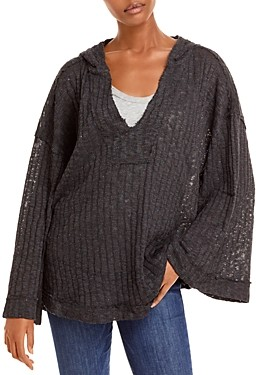 Free People Baja Babe Hooded Hacci Sweater