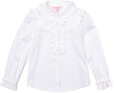 E-Land Kids Snow White Ruffle-Front Button-Up - Toddler & Girls