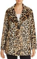 Kenneth Cole Leopard Print Faux Fur Coat
