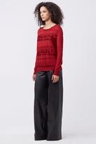 Diane von Furstenberg Benni Ruffle Sweater