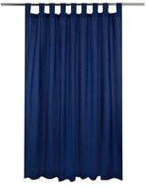 George Home Navy Longer Length Curtains 72x66in