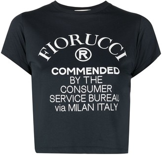 Fiorucci logo-print cropped T-shirt