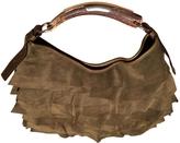 Saint Laurent Green Suede Handbag