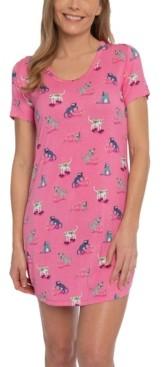 Munki Munki Nite Nite Scuba Cats Sleepshirt Nightgown, Online Only