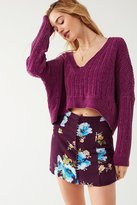 Urban Outfitters Royce Covered Button Mini Skirt