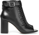 Belstaff Brinkley whipstitched leather ankle boots