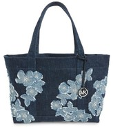 MICHAEL Michael Kors Floral Denim Tote - Blue