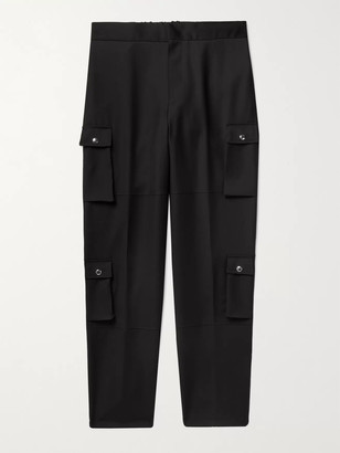 Givenchy Wool Cargo Trousers - Men - Black