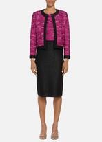 St. John Opulent Textured Tweed Sequined Jacket