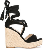 Paloma Barceló Fay wedged sandals - women - Raffia/Leather/Suede - 37