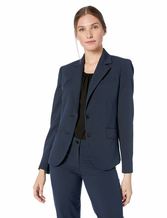 Anne Klein Women S Seersucker Jacket Shopstyle