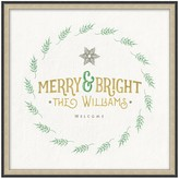 Personalized Merry & Bright Canvas