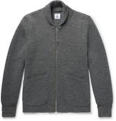 Arpenteur - Shawl-Collar Wool Zip-Up Cardigan
