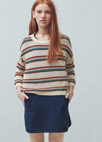Mango Outlet Striped cotton sweater