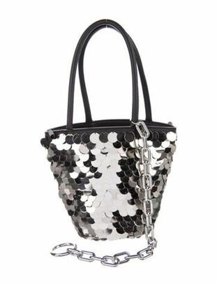 Alexander Wang Roxy Sequin Mini Bucket Bag Silver