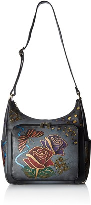 Anna by Anuschka Women's Hand Painted Leather Organizer Hobo