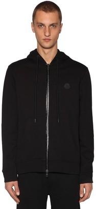 Moncler Cotton Jersey Zip-Up Sweatshirt Hoodie