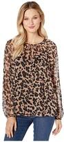 NYDJ Peasant Blouse (Wildcat) Women's Clothing