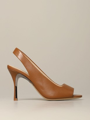 Furla High Heel Shoes Slingback Yc74 Fulra In Nappa Leather