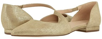 Naturalizer 27 Edit Heather (Taupe Metallic Linen Leather) Women's Flat Shoes