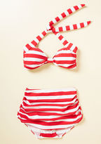Esther Williams Bathing Beauty Swimsuit Bottom in Red Stripes in 28 - High Waist by from ModCloth