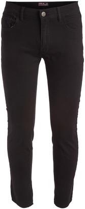 Galaxy By Harvic Galaxy by Harvic Men's Casual Pants Black - Black Ultra-Stretch Skinny Chino Pants - Men