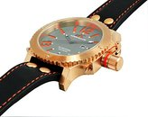 Adee Kaye Men's AK7211-MRG Analog Display Japanese Quartz Black Watch