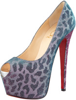 Christian Louboutin Highness Leopard-Print Red Sole Pump