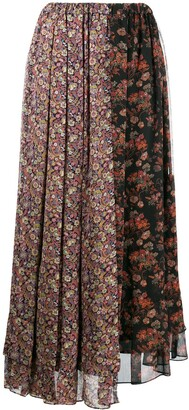 Junya Watanabe patched floral print skirt