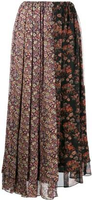 Junya Watanabe Patched Floral Print Skirt