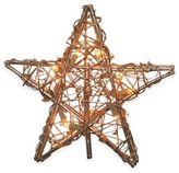 Kurt Adler 12-Inch 10-Light Rattan Gold Star Tree Topper