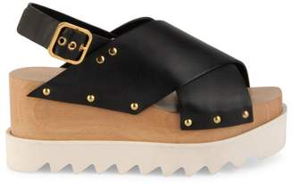 Stella McCartney Crisscross Platform Slingback Sandals