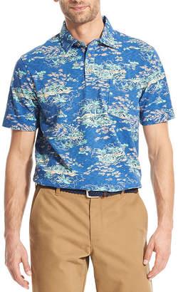 Izod Dockside Mens Cooling Short Sleeve Polo Shirt