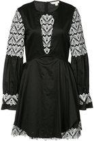 Jonathan Simkhai embroidered flared dress - women - Cotton - XS