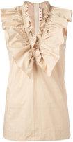 Marni ruffled top - women - Cotton - 40