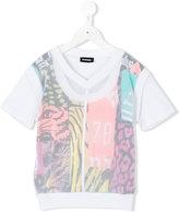 Diesel layered mesh T-shirt - kids - Cotton/Polyester - 6 yrs