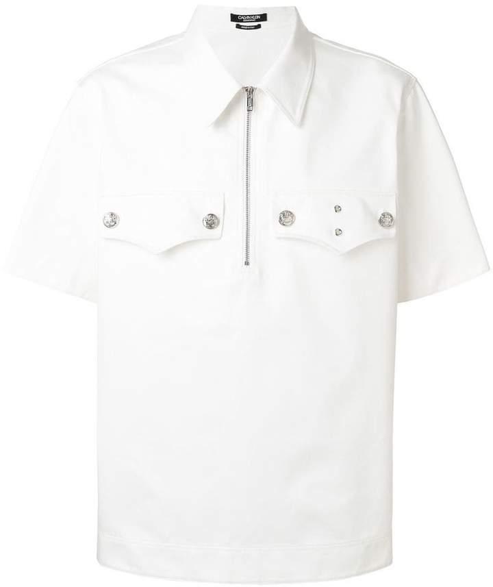 Calvin Klein front zipped shirt