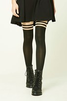 Forever 21 FOREVER 21+ Colorblock Striped Tights