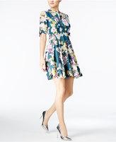 GUESS Aliyah Printed Lace-Up Dress