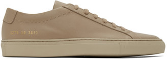 Common Projects Taupe Leather Achilles Low Sneakers