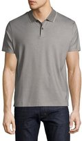 HUGO BOSS Honeycomb Polo Shirt with Contrast Tipping, Gray