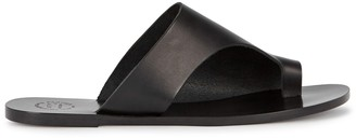 Atelier Atp ATP Rosa Black Leather Sandals