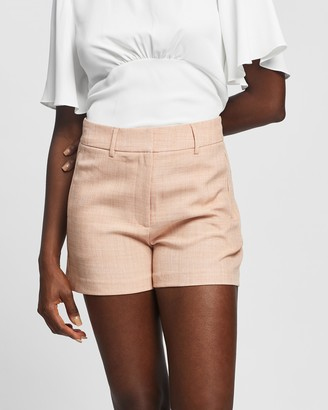 Forcast Women's Pink High-Waisted - Nala Tailored Shorts - Size 10 at The Iconic