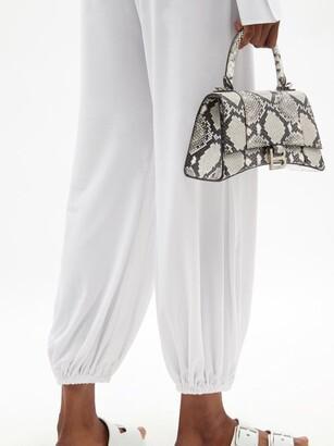 Norma Kamali Belted Jersey Jumpsuit - White
