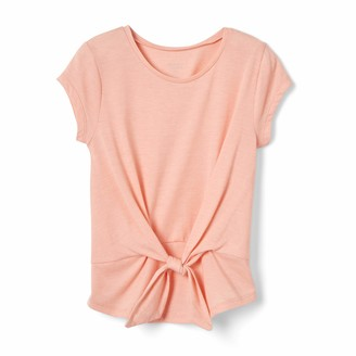 French Toast Girls' Little Short Sleeve Tie Front Top Shirt