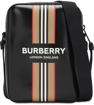 Burberry Thornton Icon Stripe Coated Canvas Bag