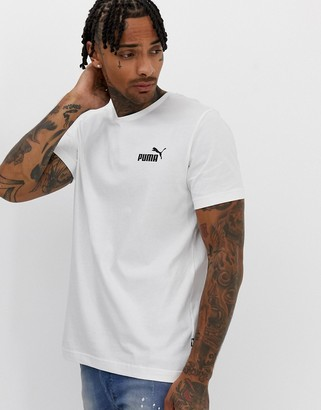 Puma Essentials t-shirt with small logo in white