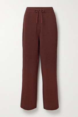 LE 17 SEPTEMBRE Ribbed Cotton Straight-leg Pants - Brick