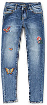 Miss Me Girls Big Girls 7-16 Butterfly-Embroidered Skinny Jeans