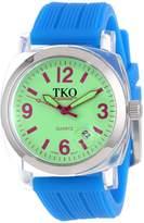 TKO ORLOGI Women's TK558-GBL Milano Junior Acrylic Case Green Dial Watch